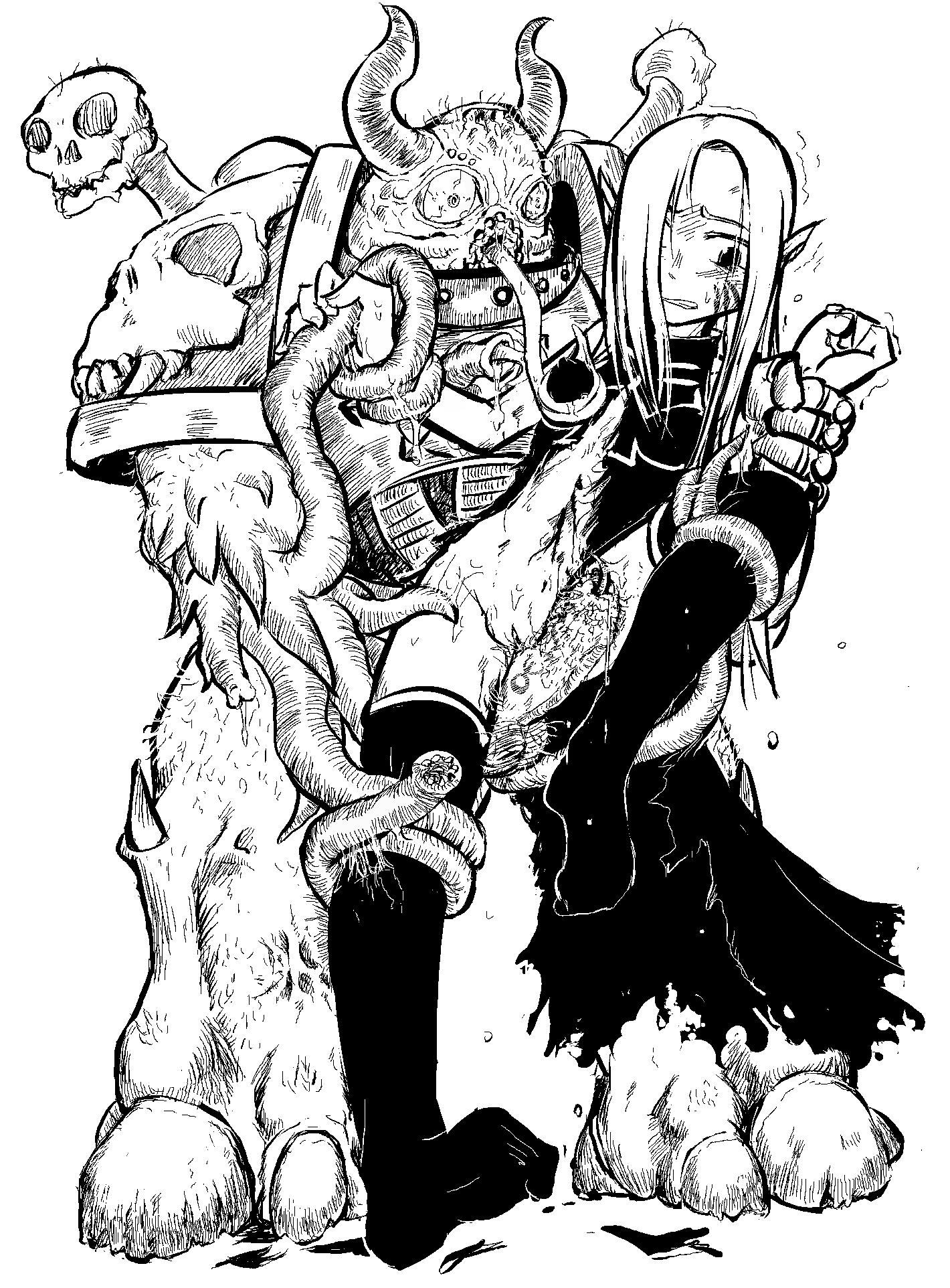 f crawling nyarko-san: chaos another My hero academia midnight