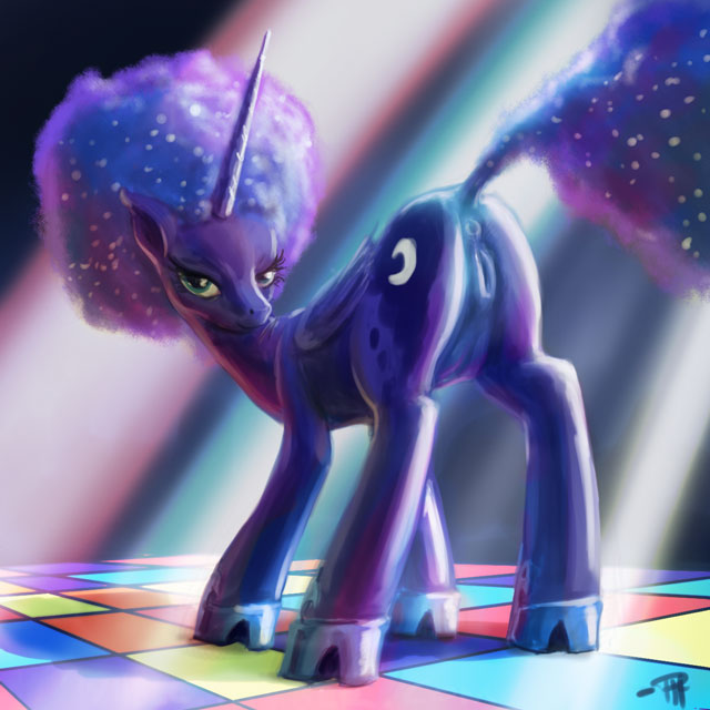 luna from pictures my little pony of Five night at freddy animation