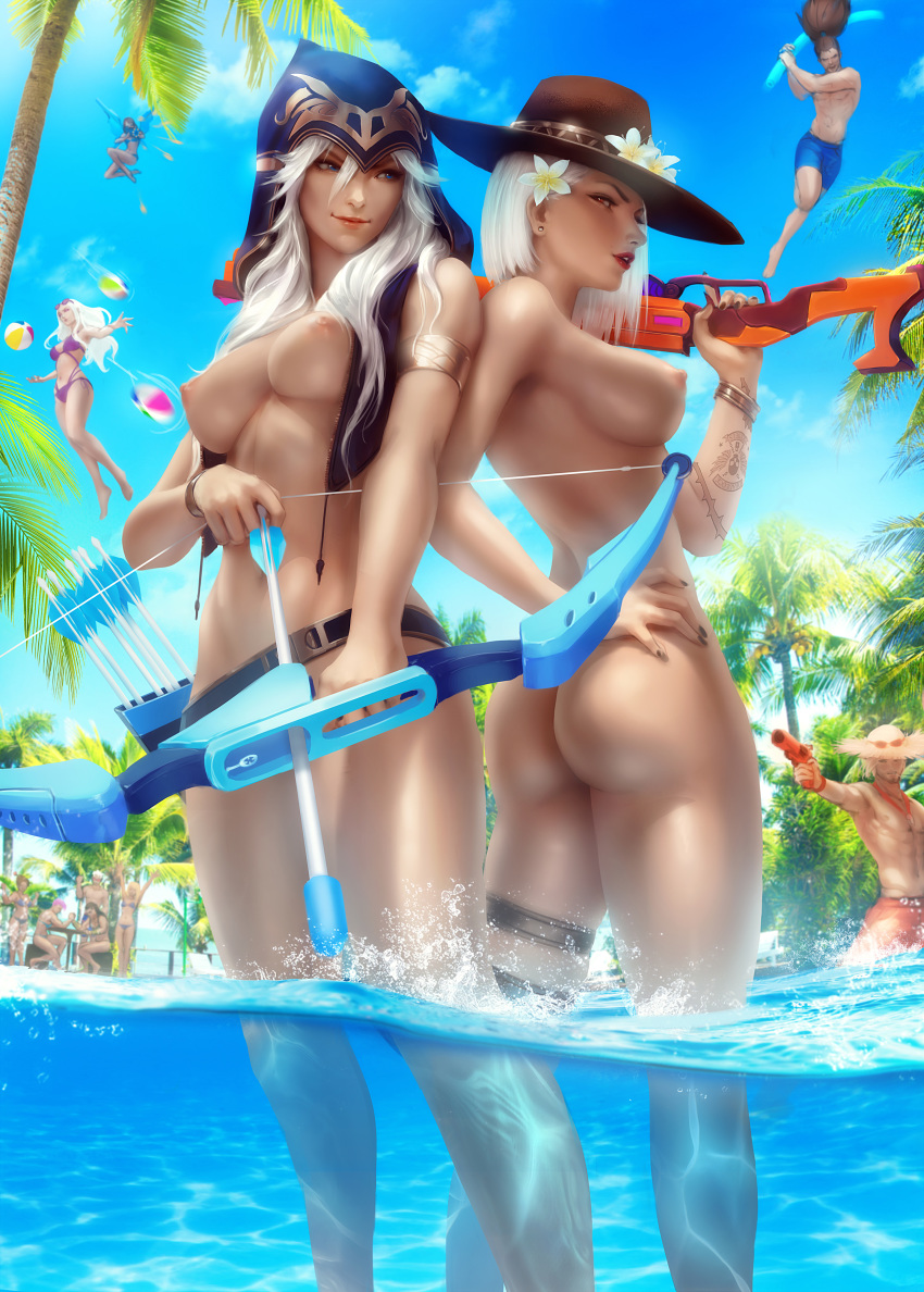 nude legends league ashe of Spice and wolf holo nude