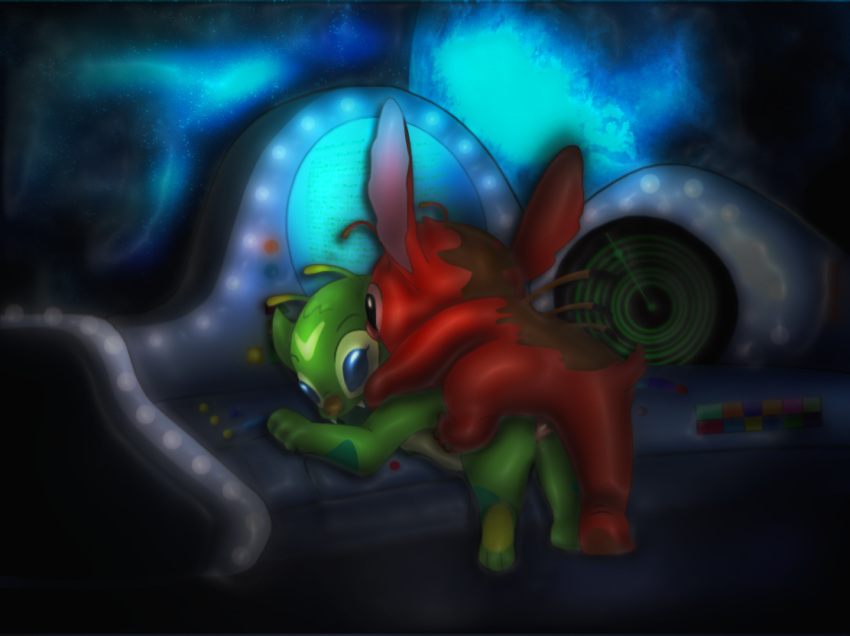 alien lilo yellow stitch and League of charms by twistedgrim
