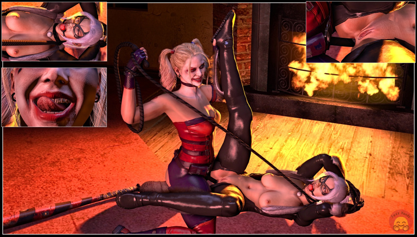 harley quinn nightwing porn and Eat shit asshole fall off your horse